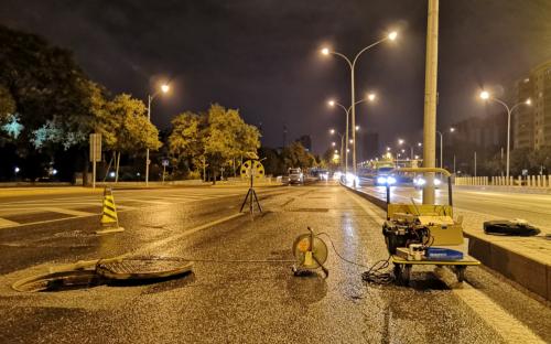 蓟门桥地铁站项目-地下水流速流向测试报告